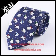 Azo Free Wholesale Custom Silk Custom Screen Printed Ties with Animals