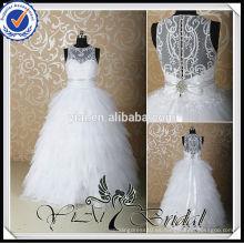 RSW529 Plata Rhinestone cinturón blanco Appliques de cristal para los vestidos de boda