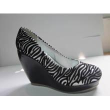 2016 moda salto alto chuncky senhoras vestem sapatos (hyy03-108)