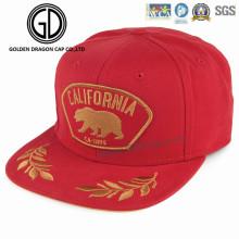 2017 nova alta qualidade era acrílico cap snapback com logotipo dourado bordado brilhante