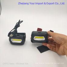 3 AAA Dry Battery Plastic LED Torch Mini Headlite Flashlight