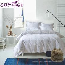 Usine Directe Prix 100% Coton 4 pcs Literie Inclure drap de lit, housse de couette, taie d'oreiller