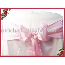 Ceintures satin, écharpes de chaise de banquet/hôtel