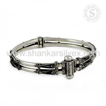 Bangle Tradicional Prata Moda Prata Jóias 925 Prata Jóias Grossista