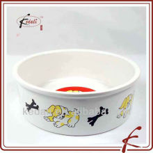 ceramic porcelain pet bowl with decal