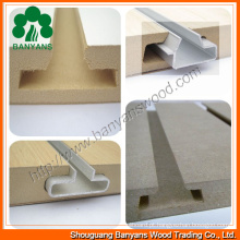7 sulcos / 15 sulcos da placa entalhada melamina 18mm do MDF