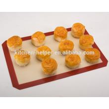 China Professional Hersteller Lebensmittel Grade Hitzebeständige Nonstick Fiberglas Silikon Backmatte / Backmatte Set 2-Pack