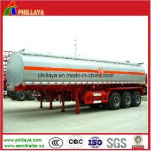 Chemischer Behälter-Anhänger des ISO-Dreiachser-45cbm Edelstahl für Verkauf