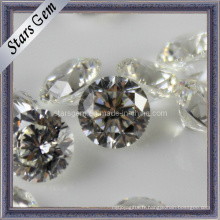 81 Facettes Star Cut Round Shape Loose Stone Cubic Zirconia