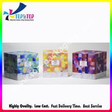 Luxo Impressão Handmade Lid e Base Perfume Packaging Box