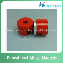 pot éducatif, aimant alnico forme fer à cheval d12.7 mm