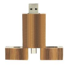 Custom Logo Wood Wooden Otg USB   8GB 16GB 32GB Memorias Wood Otg Usb Flash Drive