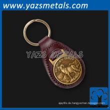 fertigen Sie Metall keychain, kundenspezifisches Leder und antike Metall keychains besonders an