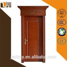 Conception professionnelle droite/gauche à l'intérieur/extérieur prix de porte en bois teck massif