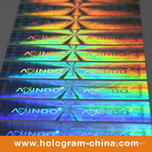 Autocollants anti-contrefaçon de sécurité de l'hologramme laser 3D de couleur changeante