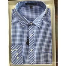 Camisa de negócios tingida de fio