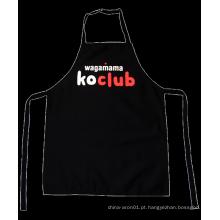 Avental engraçado da cozinha do preto da arte