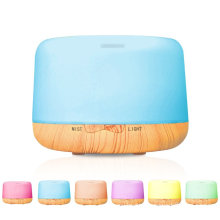 500ml Home Rechargeable Essential Oil Wood Aroma Diffuser