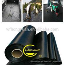 2,0 mm Dicke EPDM Wasserdichte Gummimembran für Dach / Dach / Keller / Unterlage mit ISO