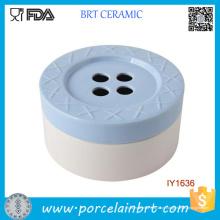 Atacado Agradável 4-Buracos Botão De Cerâmica De Doces Jar