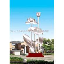 Большая скульптура очарования, скульптура сада из нержавеющей стали