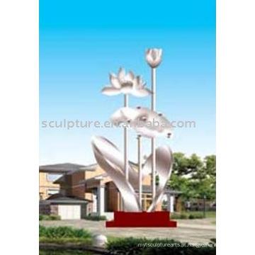 Grande escultura do fascínio, escultura do jardim do aço inoxidável