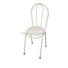 Silla de respaldo blanco, tubo de acero de la silla del ocio del metal para el hogar