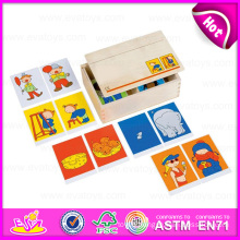 2015 Professional Wooden Domino Game, Montessori Educational Wooden Domino Blocks Toy, Top Quality Wooden Toy Domino Set W15A058