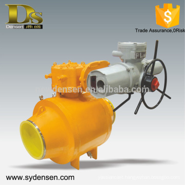 Gas oil water pipeline use motorized ball valve