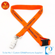 Customized Logo Promotional Flat Polyester Printed Lanyard at Factory Price From China