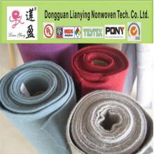 Tejido de poliéster no tejido de color lana de fieltro para el filtro