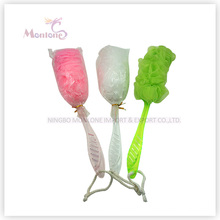 PE Long Handle Puff Mesh Bath Sponge