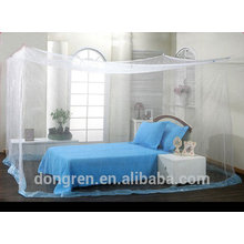 100% poliéster Rectangular Insecticida Trato Square Mosquito Net com rendas