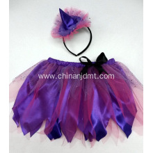 A purple skirt with a headband