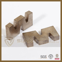 2015 Sunny W Shape Diamond Segment Cutting Blade for Stone