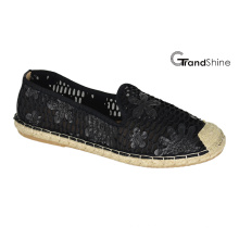 Mulheres Espadrille Lace Flat Casual Ballet Shoes