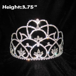 High Quality Glass Diamond Pageant Crowns