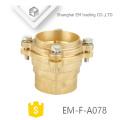 EM-F-A078 Messingkupplungs-Winkelflansch-Rohrfitting