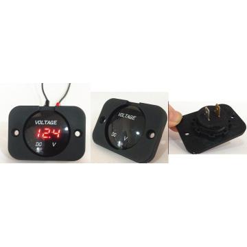 Voltmeter, Digital Display Voltmeter for Car/Marine Voltmeter Socket