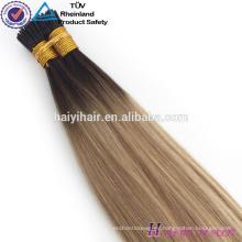 Alibaba Wholesale Remy Hight Grade Hair Inclino la extensión del cabello humano para la mujer blanca