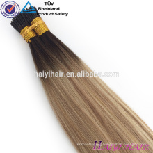 Alibaba Wholesale Remy Hight Grade Hair I tip Human Hair Extension For White Woman