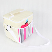 Picnic Storage Casual Striped Men Women Cooler Bag