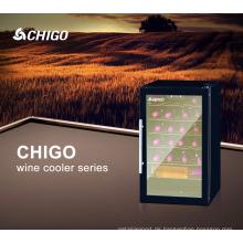 62L CFC Free Display Kleine Einzelne Gehärtetem Glas Tür Kompressor Weinkühler Kühlschrank