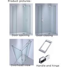 Стеклянная дверца / Душевая комната с стеклянной дверью из нержавеющей стали 8 мм / 10 мм (Kw02)