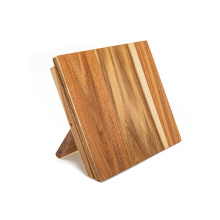 Nature acacia wooden Kitchen knife holder, double side magnetic knife stand