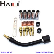 MB15 Accesorios para piezas de antorcha MIG