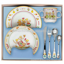 Vajilla porcelana hueso china color esmaltado esmalte cena set cajas de regalo