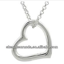 Collar de acero inoxidable del collar pendiente del corazón de la novia de la joyería de la manera