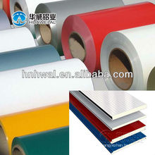 Materiais para painéis de construção revestidos de bobina de alumínio