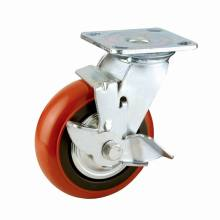 H5 Heavy Duty Type Double Ball Bearing PP Side Brake Type Caster